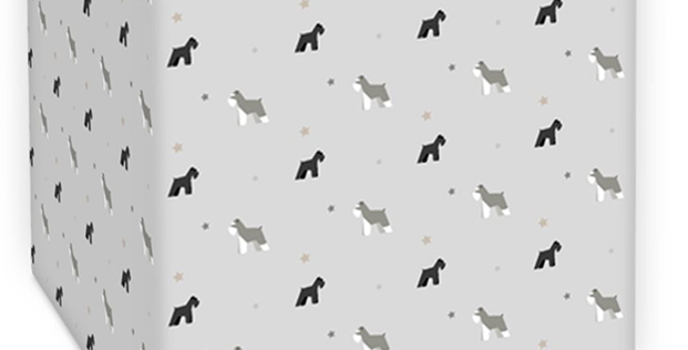 Grey Square Ceiling shade - Snazzy Schnauzers