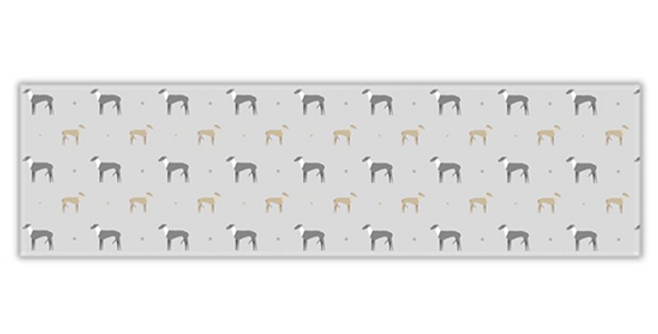Grey Twill Table Runner - Graceful Greyhounds