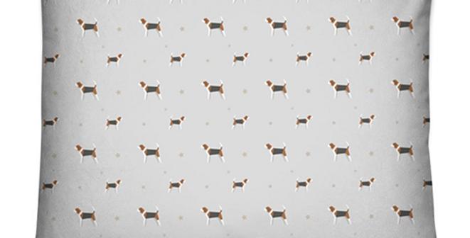 Grey Dog Bed Cushion - Busy Beagles