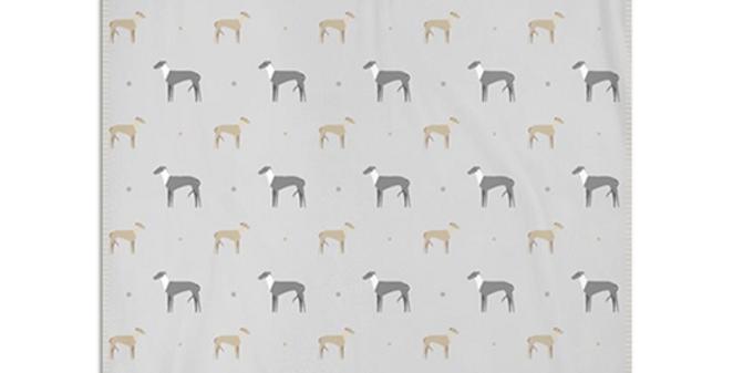 Grey Snuggly Fleece Blanket - Graceful Greyhounds