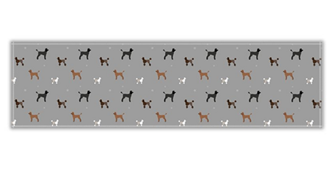 Twill Table Runner - Poodles