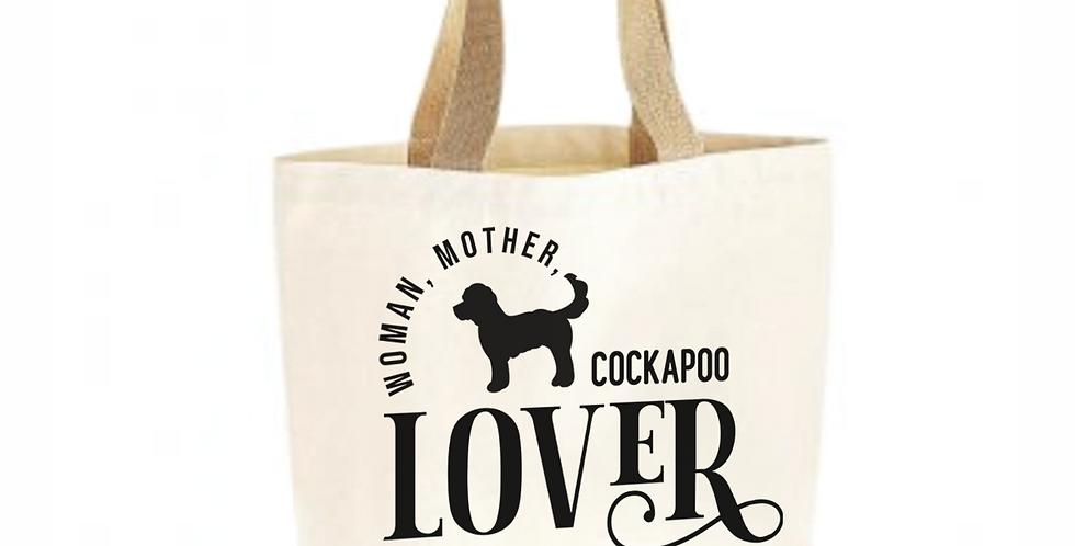 Classic Jute & Canvas Cockapoo Shopper