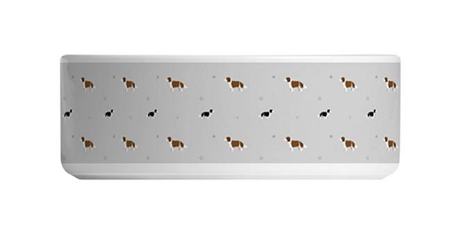 Grey Large Ceramic Dog Bowl - Scrumptious Springers