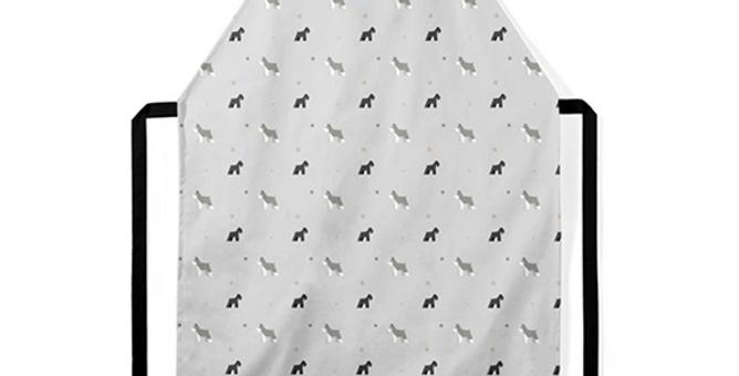 Grey Ultra Suede Apron - Snazzy Schnauzers