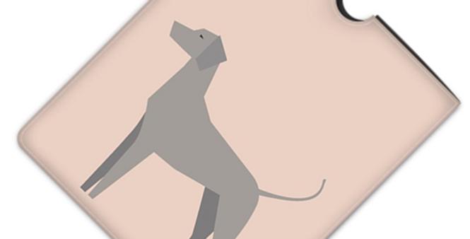 Leather iPad Case (Standard) - Valiant Weimaraners