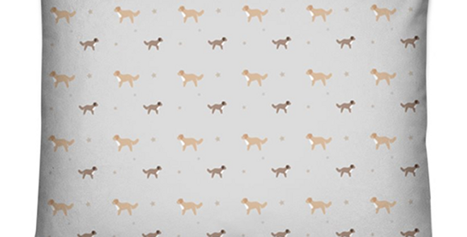 Grey Dog Bed Cushion - Cute Cavapoos