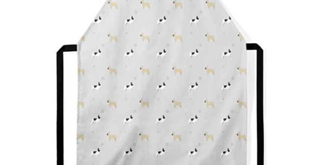 Grey Ultra Suede Apron - Fancy Frenchies