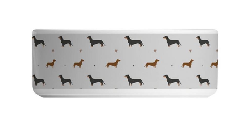 Grey Large Ceramic Dog Bowl - Slinky Sausages