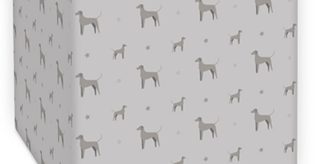 Grey Square Ceiling Shade - Valiant Weimaraners