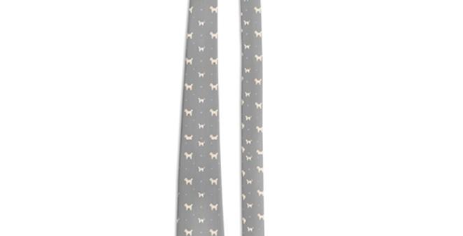 Grey Multi Tie - Cuddly Cavachons