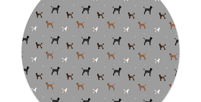 Platter Charger - Poodles