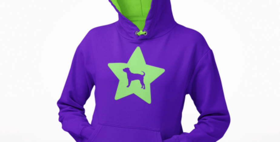 Bright Star Purple/Neon Green Hoodie - ANY BREED