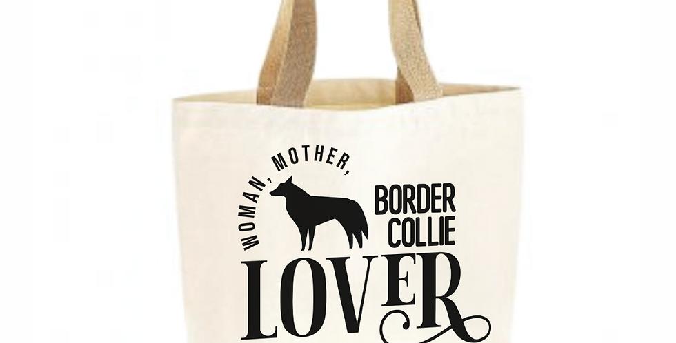 Classic Jute & Canvas Border Collie Shopper