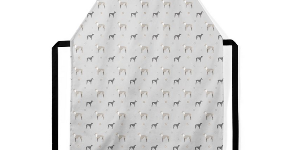 Grey Ultra Suede Apron - Whimsical Whippets