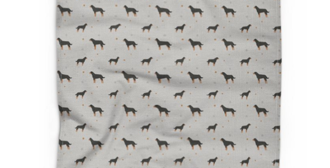 Grey Cotton Linen Tea Towel - Rock n Roll Rotties