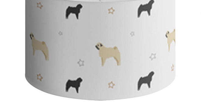 Large Round Ceiling Shade - Perfectly Pug