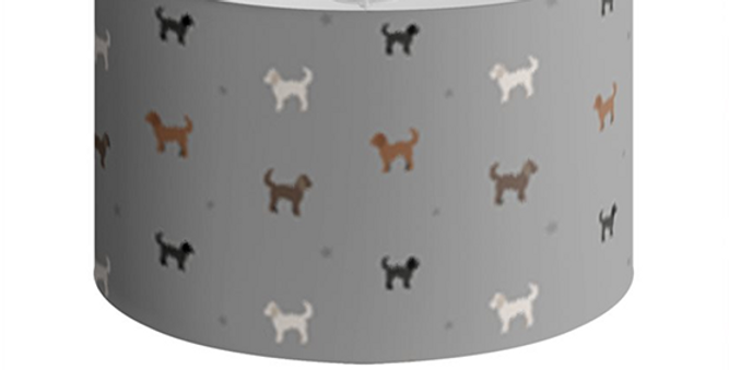 Grey Large Round Ceiling Shade - Clever Cockapoos