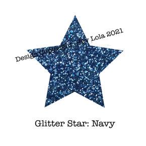 Glitter Star - Navy