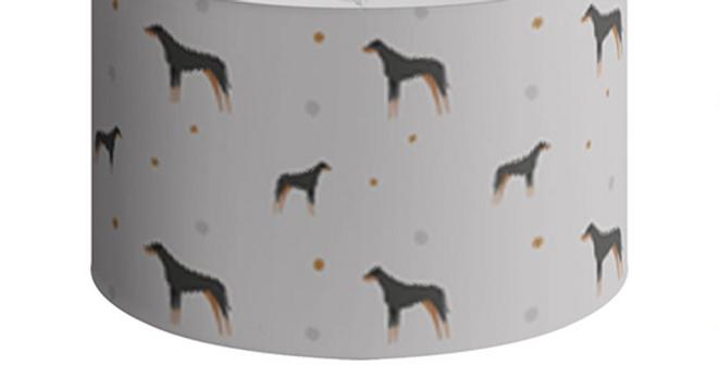Large Round Ceiling Shade - Dazzling Dobermans