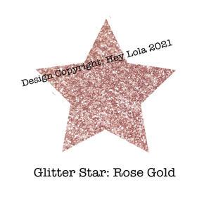 Glitter Star - Rose Gold