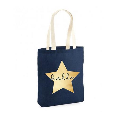 Hello Star Canvas Tote Bag