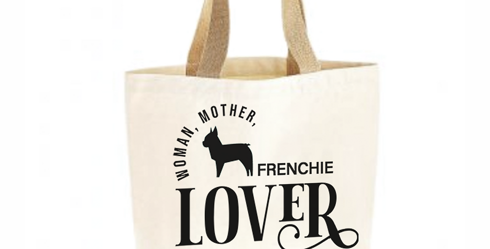 Classic Jute & Canvas Frenchie Shopper