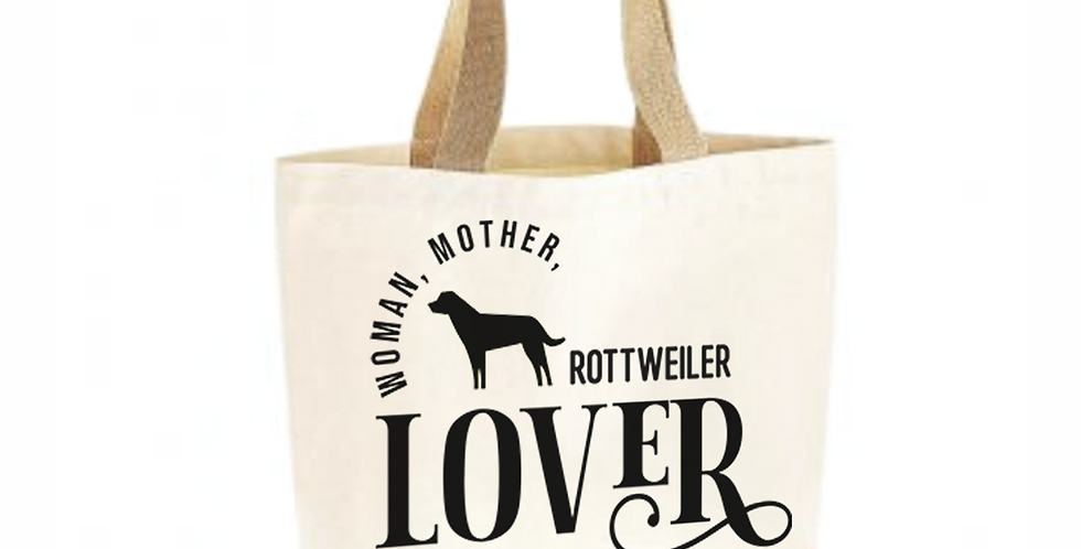 Classic Jute & Canvas Rottweiler Shopper