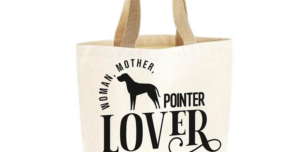 Classic Jute & Canvas Pointer Shopper