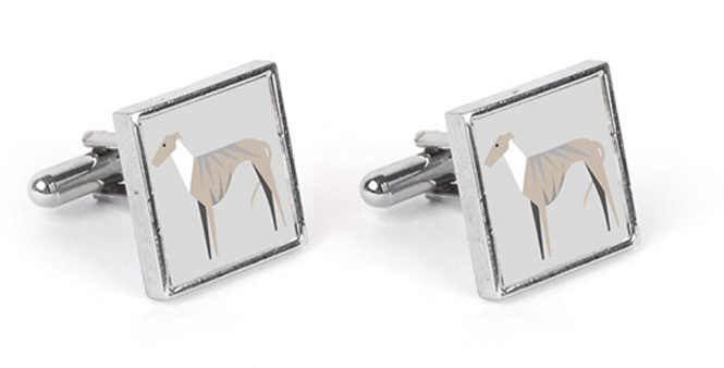 Grey Cufflinks - Whimsical Whippets