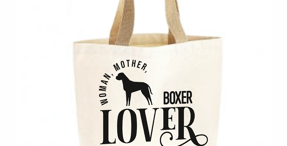 Classic Jute & Canvas Boxer Shopper