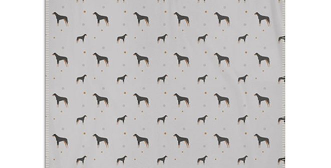 Grey Snuggly Fleece Blanket - Dazzling Dobermans
