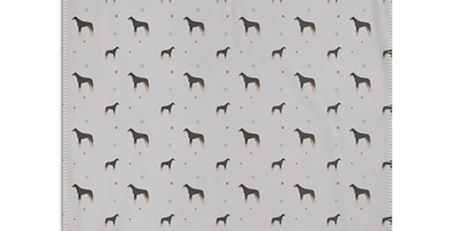 Grey Snuggly Fleece Blanket - Dazzling Dobermans
