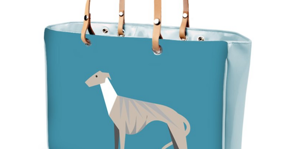 Large Tote Bag - Whimsical Whippets