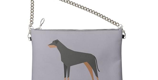 Colour Pop Leather Bag - Dazzling Dobermans