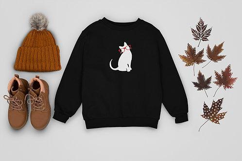 Kids Bespectacled Kitty Sweatshirt