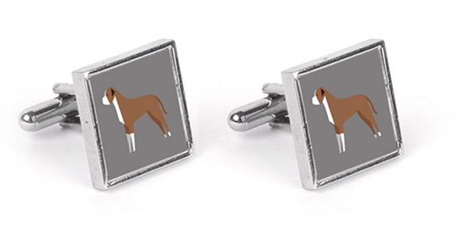 Grey Cufflinks - Bounding Boxers