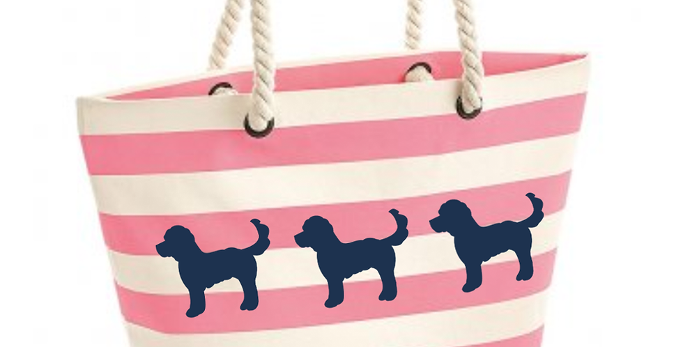 Boardwalk Beach Bag - Pink Stripe