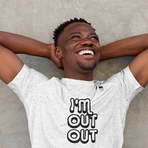 Men's 'Out Out' Iconic T-shirt - Customise Me!