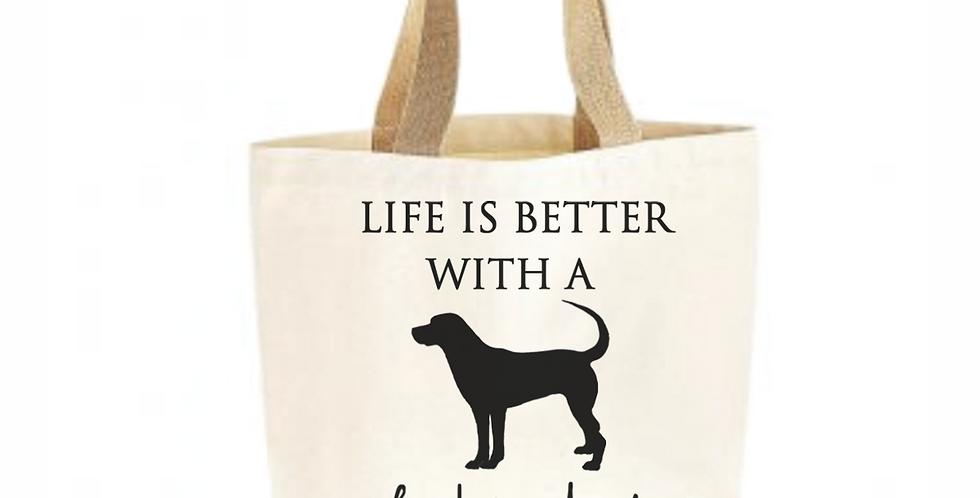 Classic Jute & Canvas Labrador Shopper