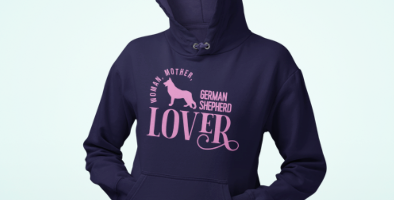 Woman, Mother German Shepherd Lover - Hoodie