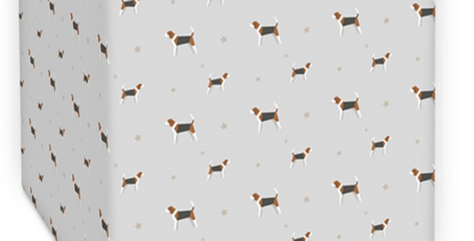 Grey Square Lampshade - Busy Beagles
