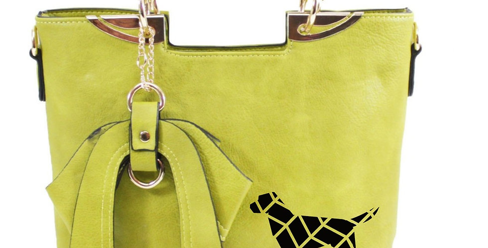Bow-Wow Tote Bag - Lime