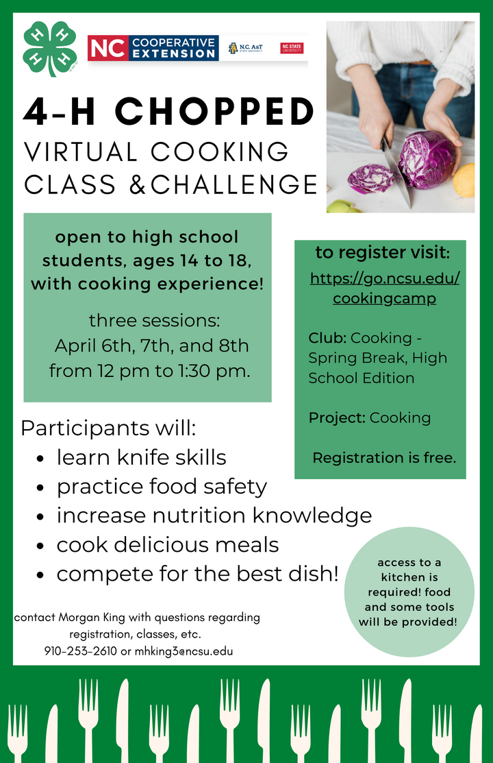 4-H Cooking Camps