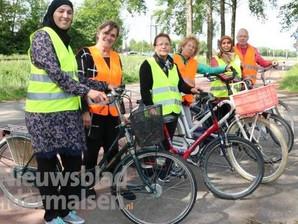 Enthousiaste fietscursisten