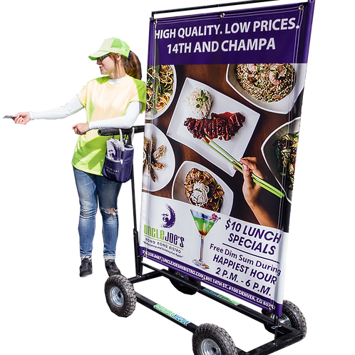 (Fixed/Large) Rolling Billboard Cart