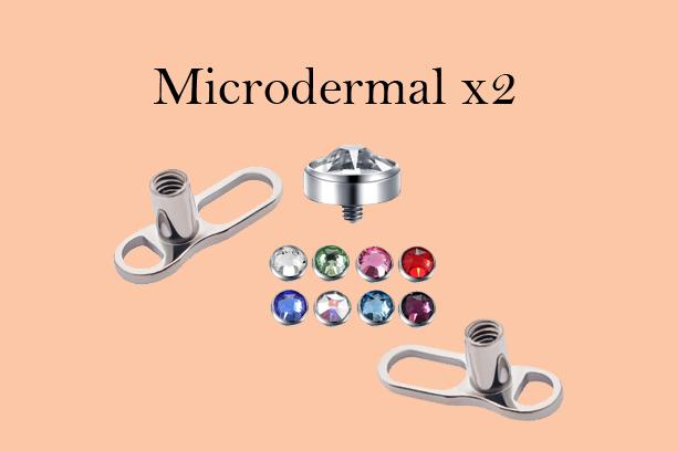 Microdermal Piercing (Pair)