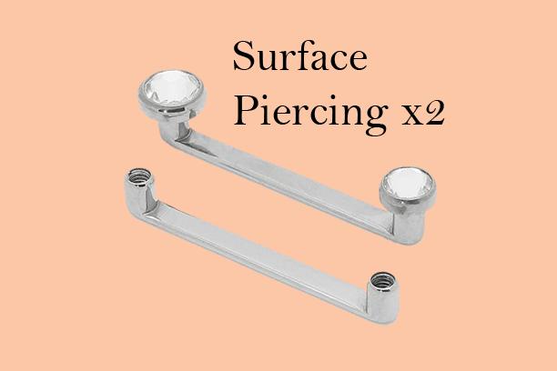 Surface Piercing (Pair)