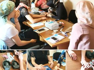 В «Исламик релиф» начались занятия по курсу «Мастер ногтевого сервиса»