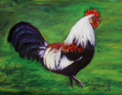 """Island Rooster 8""""x 10"""" SOLD"""