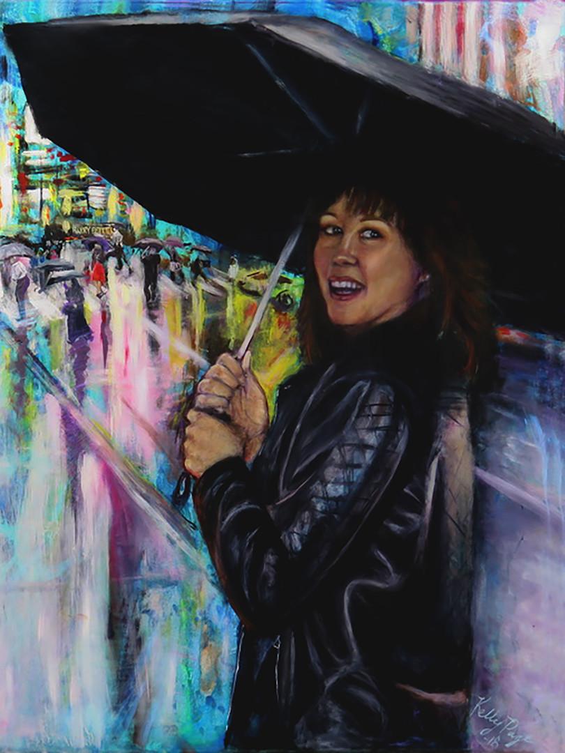 """Debbie Cain In The Rain NYC"""